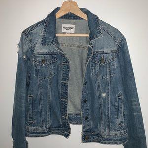 Velvet Heart slightly cropped denim jacket